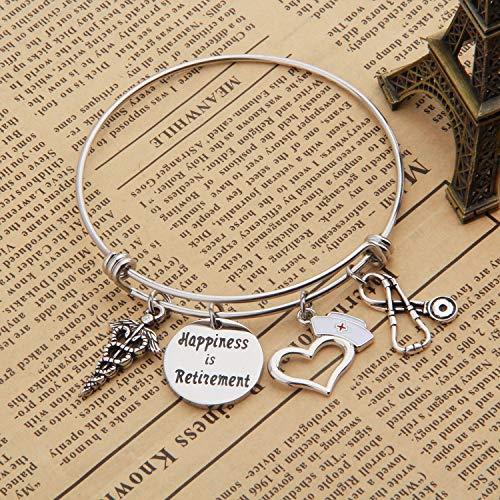 Nurse Retirement Charm Bracelet