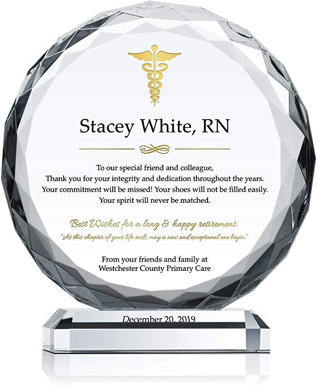 Unique Nurse Retirement Plaque Award
