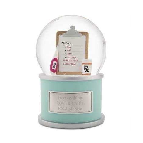 Most unique gift for retiring nurse. Personalized Nurse Snow Globe