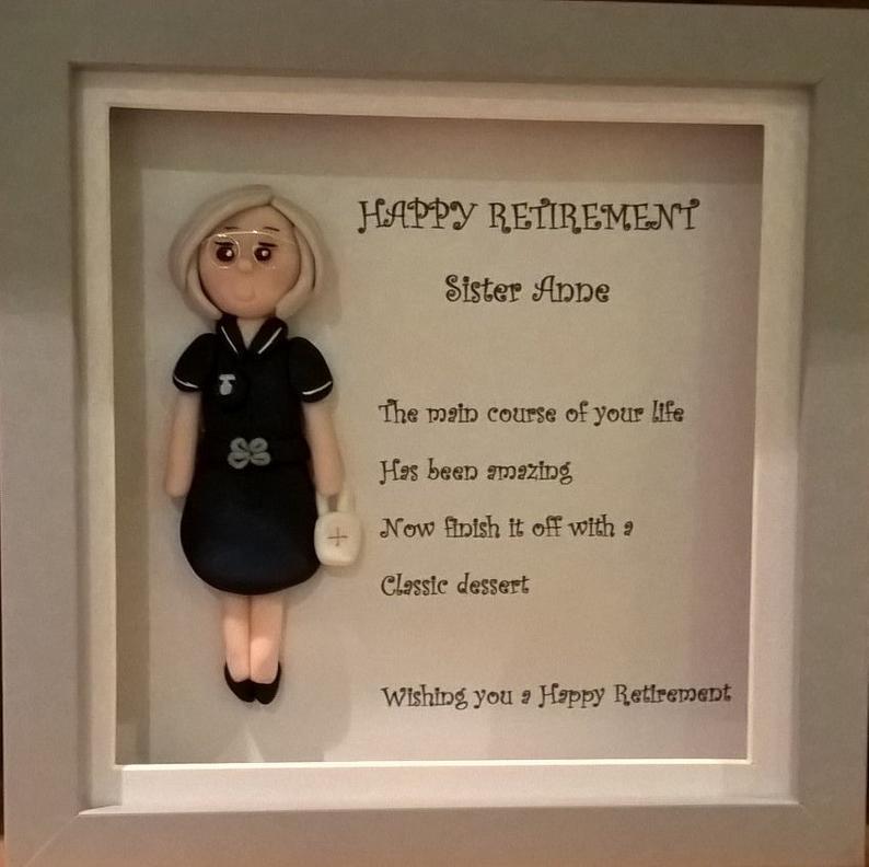 Thoughtful gift for nurse retirement Framed art