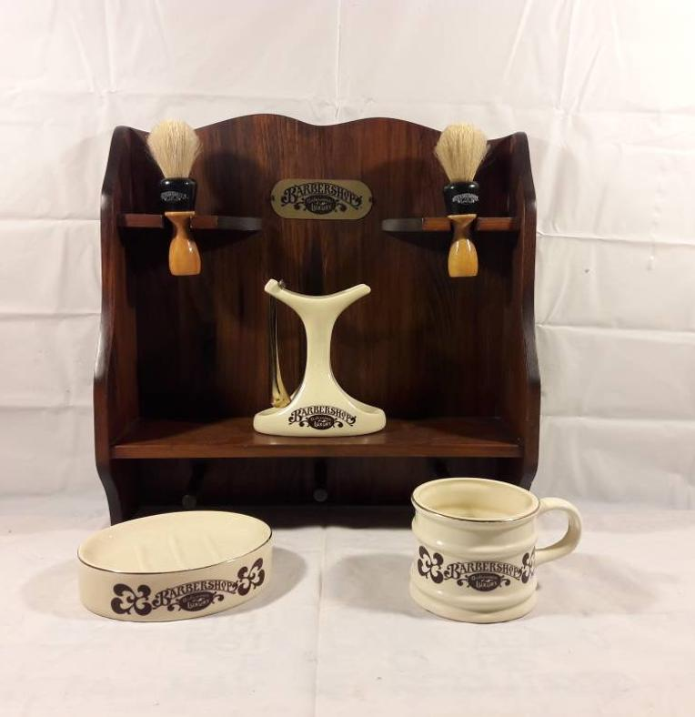 Gift that will make happy almost any barber: Vintage Barber Shop Luxury Set