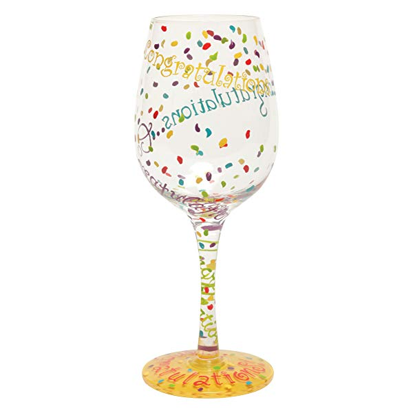 """Congratulations"" Wine Glass"
