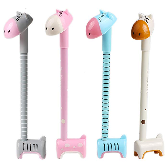 4 Giraffe Cute Novelty Ballpoint Pen