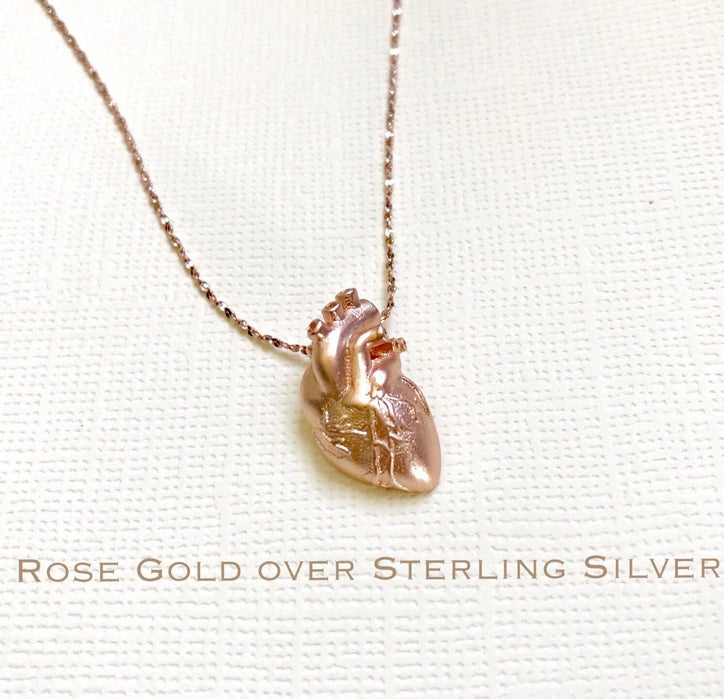 Cool medical school gift - Anatomical Heart Necklace