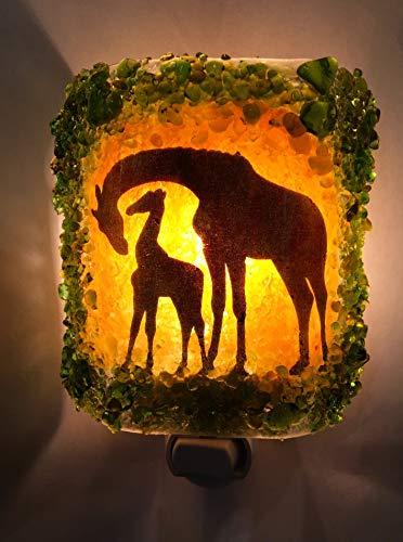 Giraffe Recycled Glass Nightlight
