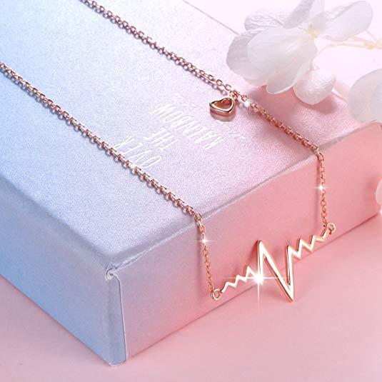 EKG Life Line Heartbeat Necklace