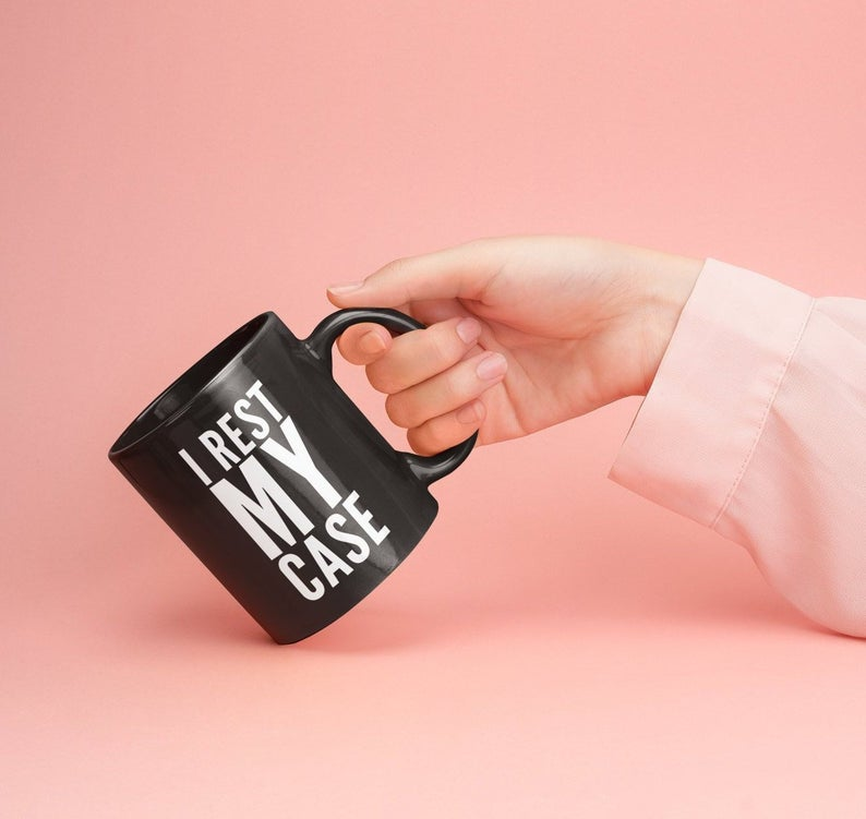 I rest my case mug