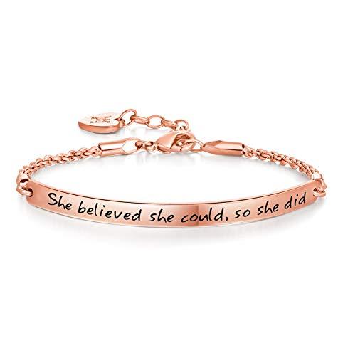 New job congratulations gift Inspirational Bracelet