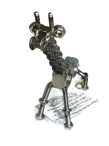 Metal Giraffe Figurine