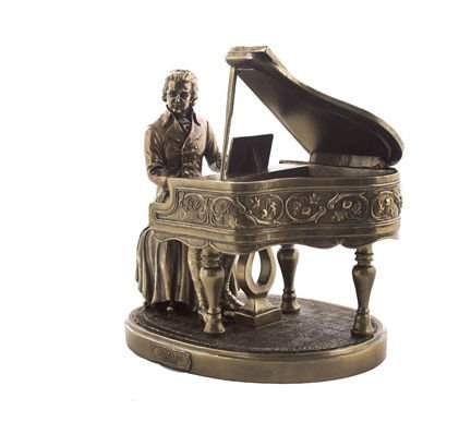 Mozart with Piano Figurine - Unique gift idea for the first piano recital for son or any other boy