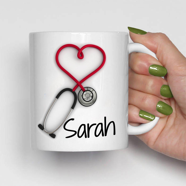 Personalized Stethoscope Mug