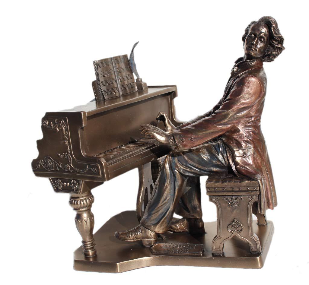 Piano recital Gift Idea: Frederic Chopin Piano Playing Bronze Figurine