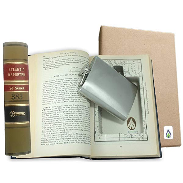 Recycled Law Book Hidden Flask