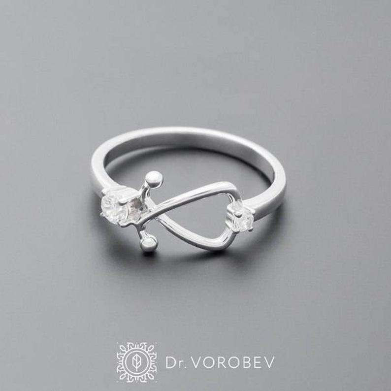 Great gift for aspiring doctors Stethoscope Ring