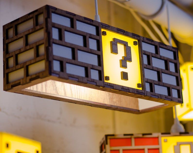 Cheer up gifts for him Super Mario Question Mark Block Lamp